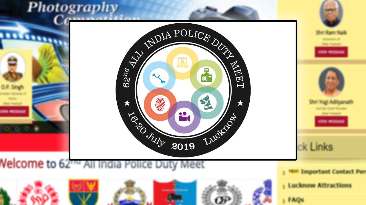 62nd All India Police Duty Meet 2018 Logo